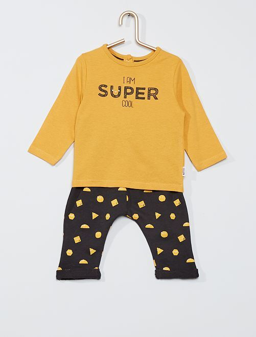 Conjunto de camiseta + pantalón eco-concepción                             AMARILLO