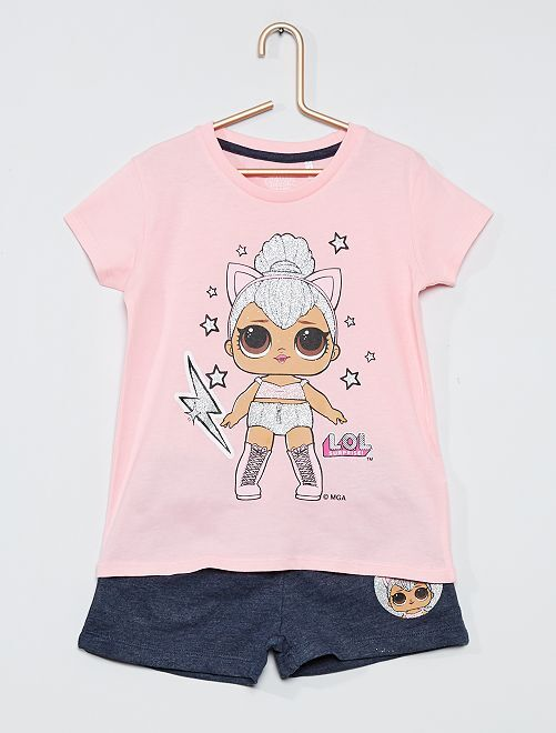 Conjunto de camiseta + short 'L.O.L. Surprise'                             ROSA