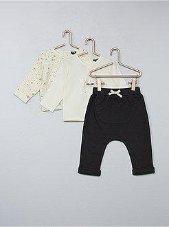 Conjunto de camiseta + sudadera + pantalón - Kiabi