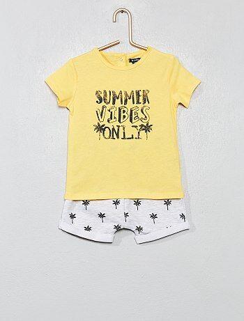 Niño 0-36 meses - Conjunto de camiseta y pantalón corto - Kiabi d9595646b15