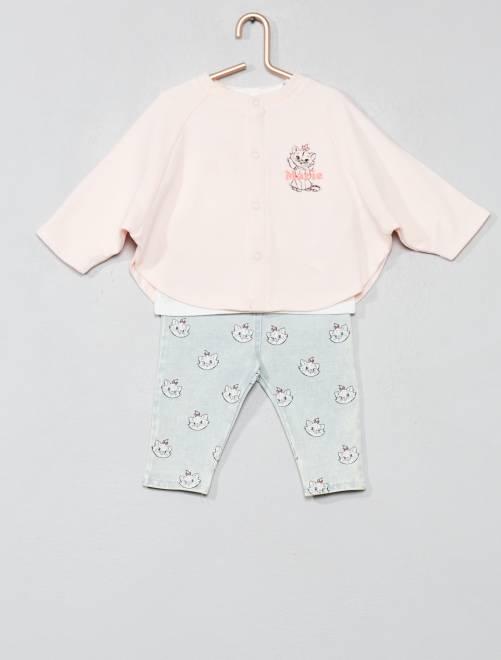 Conjunto de capa + camiseta + pantalón 'Marie'                             ROSA Bebé niña
