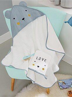 Niño 0-36 meses Conjunto de capa de baño + manopla 'oso'