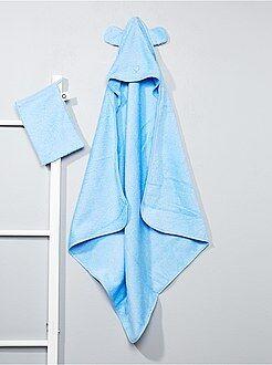 Niño 0-36 meses Conjunto de capa de baño y manopla a juego