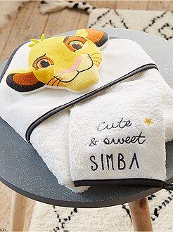 Hogar, baño - Conjunto de capa de baño y manopla a juego 'El Rey León' - Kiabi