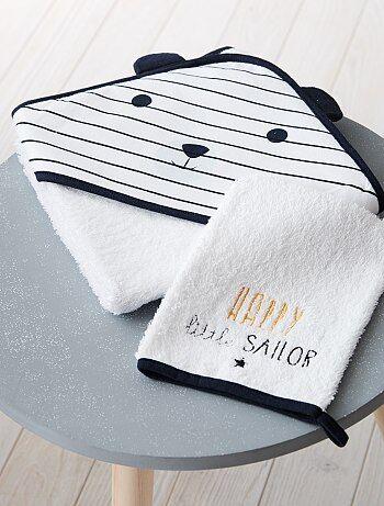 Niño 0-36 meses - Conjunto de capa de baño y manopla a juego 'panda' - Kiabi