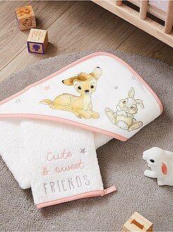 Hogar, baño - Conjunto de capa de baño y manopla 'Bambi' 'Disney' - Kiabi