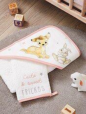 Conjunto de capa de baño y manopla 'Bambi' 'Disney'