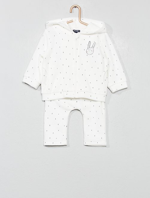 Conjunto de chaqueta + pantalón 'conejo'                                         crudo