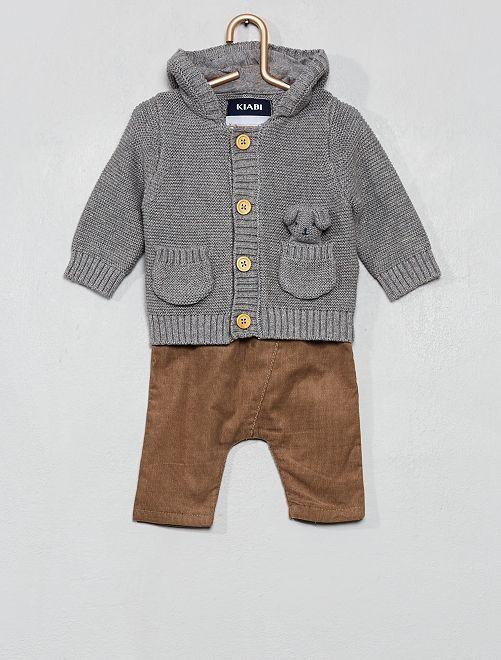 Conjunto de chaqueta + pantalón                             GRIS