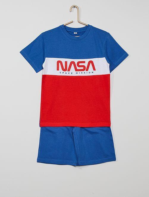 Conjunto de corto 'NASA'                             azul