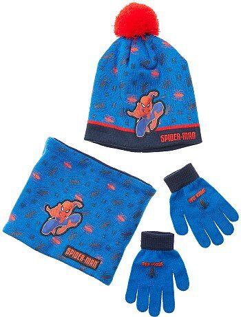 Conjunto de gorro + guantes + braga 'Spiderman' - Kiabi