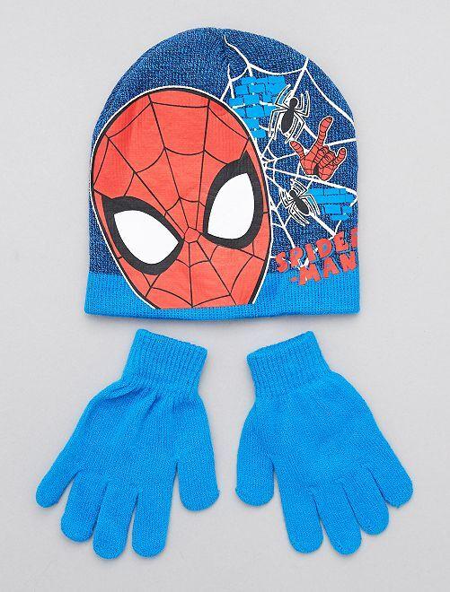 Conjunto de gorro + guantes 'Spider-Man' 'Marvel'                     azul