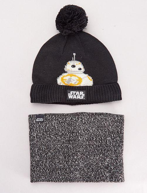 Conjunto de gorro y braga 'Star Wars'                             negro