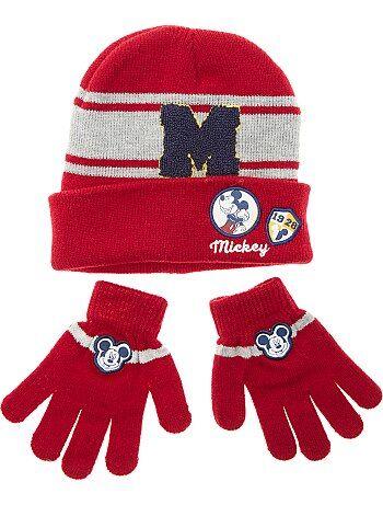 Conjunto de gorro y guantes 'Mickey' - Kiabi