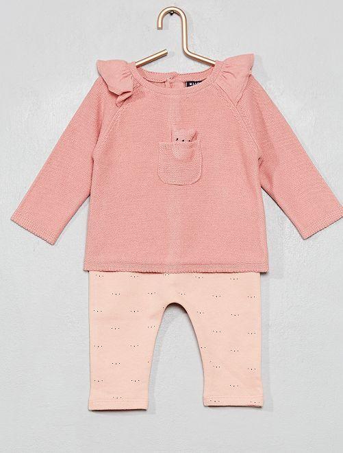 Conjunto de jersey + pantalón                             ROSA