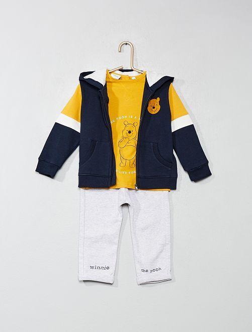Conjunto de jogging de 3 piezas 'Winnie The Pooh'                             AZUL Bebé niño
