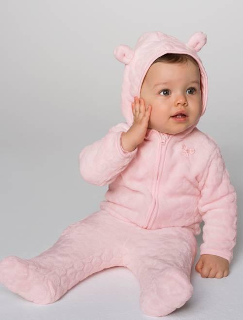 Conjunto de jogging de ratina beb ni a rosa p lido for Cuarto de nina rosa palido