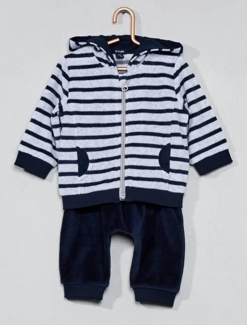 Conjunto de jogging de terciopelo                                         AZUL Bebé niño