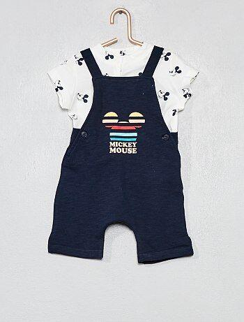 6bfec521b Niño 0-36 meses - Conjunto de peto + camiseta  Mickey  - Kiabi
