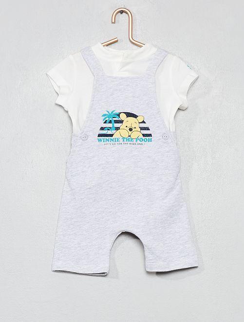 Conjunto de peto + camiseta 'Mickey'                     BLANCO Bebé niño