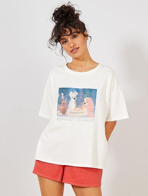 Conjunto de pijama corto 'Disney'                                                                             BLANCO