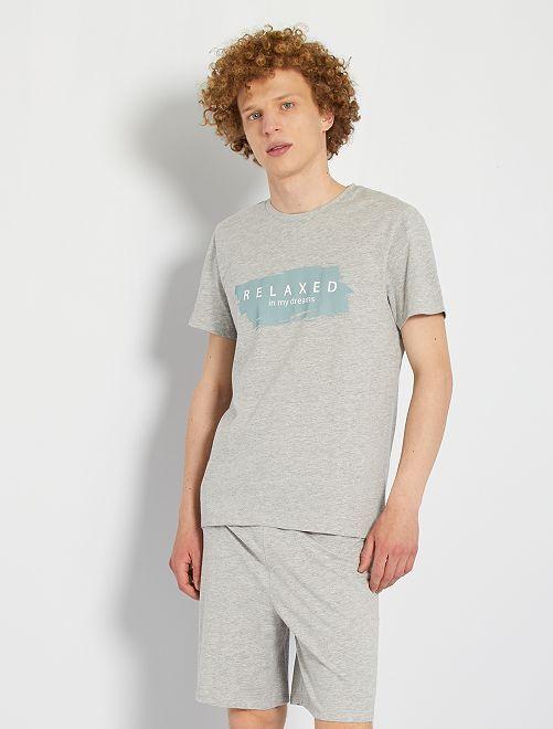Conjunto de pijama                             GRIS