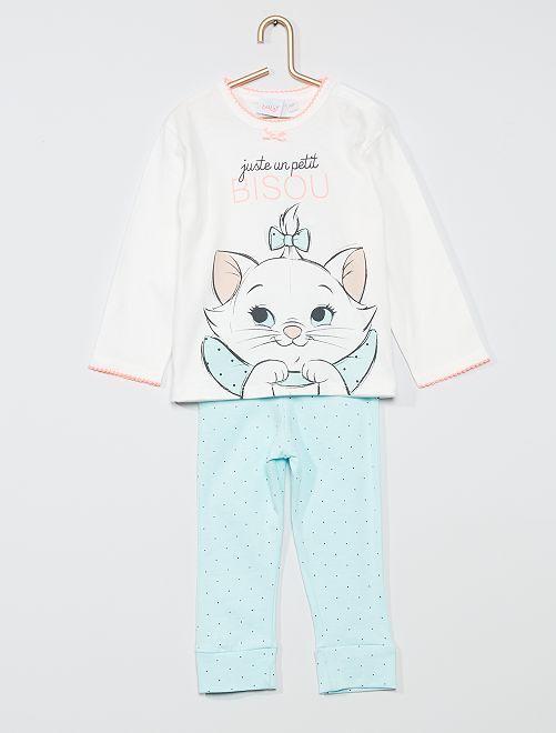 Conjunto de pijama 'Marie' de 'Los Aristogatos'                             BLANCO