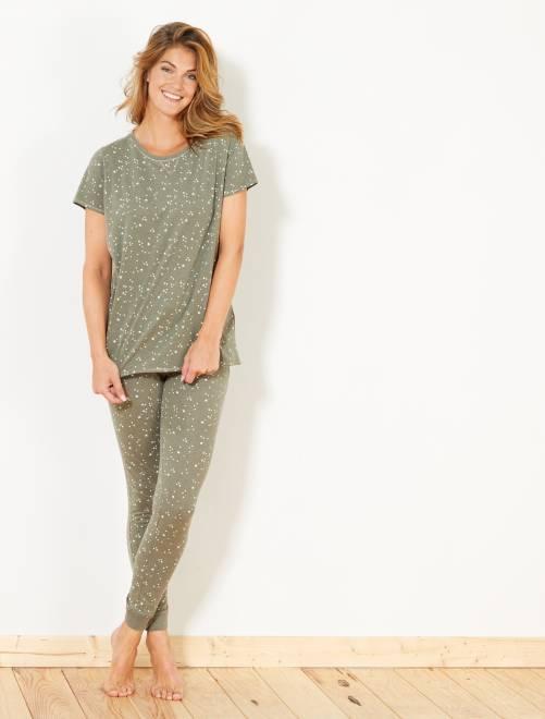 Conjunto de pijama                                         MARRON