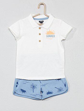 186fb61cc Niño 0-36 meses - Conjunto de polo + pantalón corto  summer  -