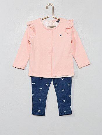 bebé niña conjuntos ranitas y pantalones baratos - moda Bebé niña ... 34ea7ed7eaff