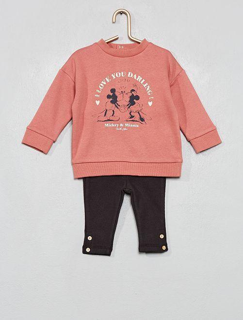 Conjunto de sudadera + legging 'Disney baby'                                         ROSA