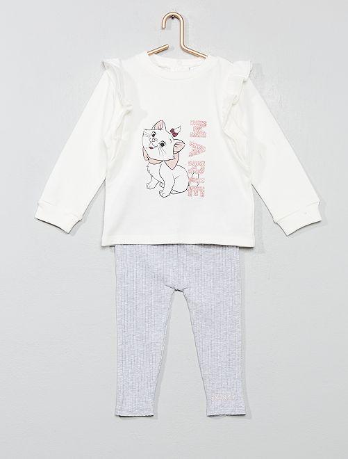 Conjunto de sudadera + legging 'Los Aristogatos'                             BLANCO Bebé niña