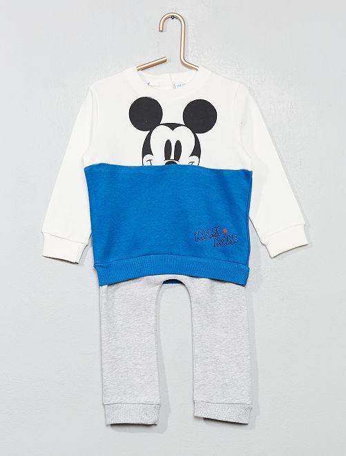 Conjunto de sudadera + pantalón 'Mickey'                             BLANCO Bebé niño
