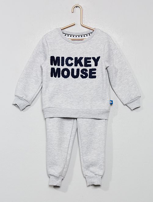 Conjunto de sudadera + pantalón 'Mickey'                                         gris