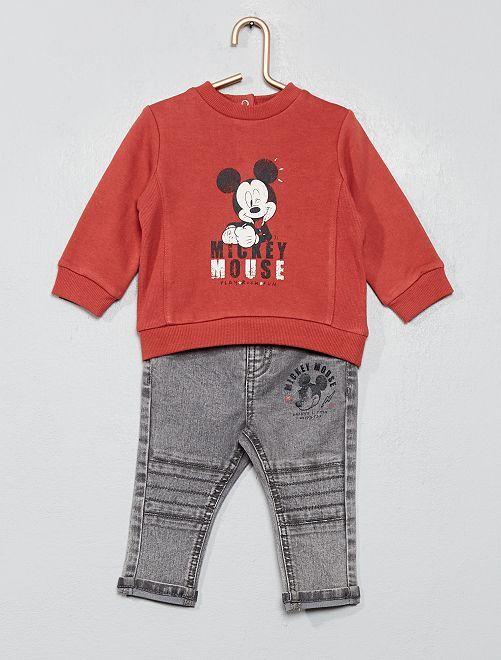 Conjunto de sudadera + pantalón 'Mickey'                             ROJO