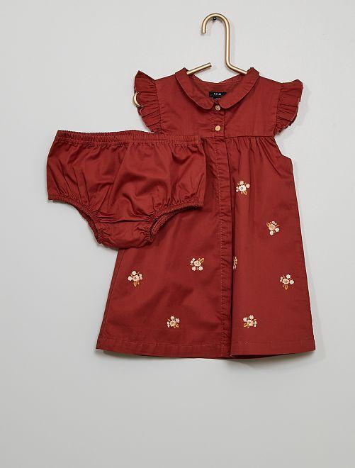 Conjunto de vestido + braguita eco-concepción                             ROSA