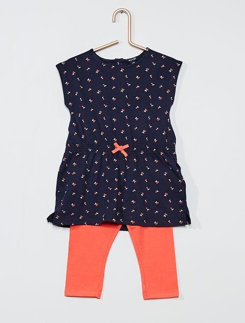 Conjunto de vestido + legging                                         AZUL