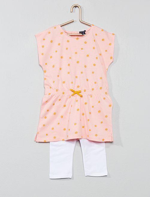 Conjunto de vestido + legging                                                                 ROSA Bebé niña
