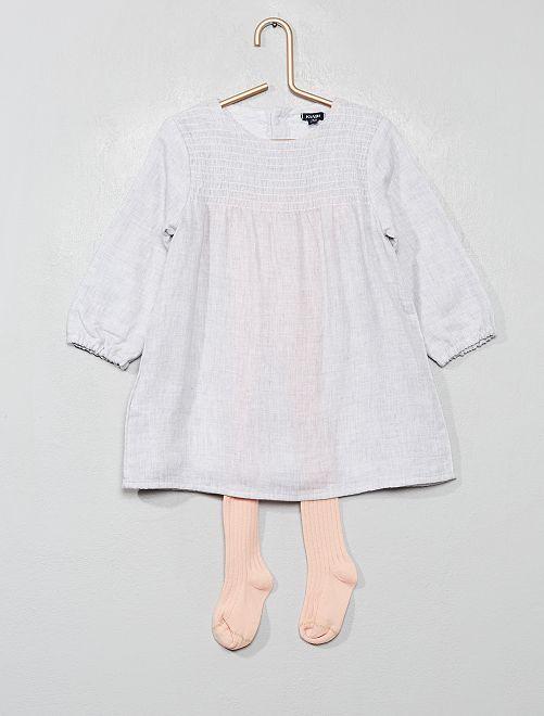 Conjunto de vestido + leotardos                             gris