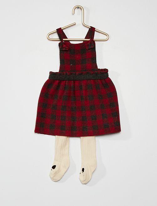 Conjunto de vestido + leotardos                                         ROJO
