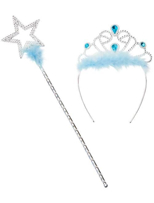 Conjunto diadema y varita mágica                                                     azul Niños