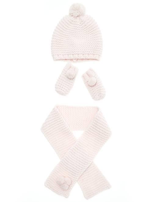 Conjunto gorro + bufanda + manoplas                             rosa pálido Bebé niña