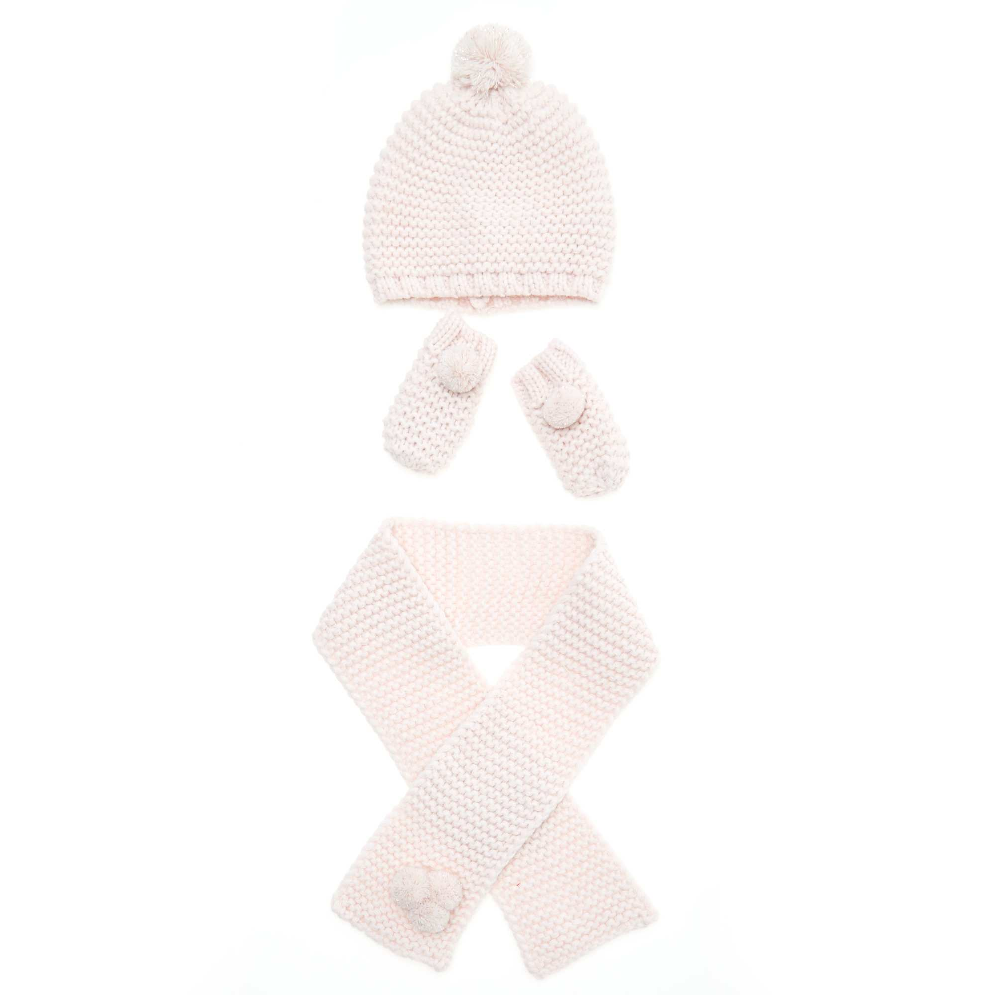 31abfccde7979 Conjunto gorro + bufanda + manoplas Bebé niña - rosa pálido - Kiabi ...