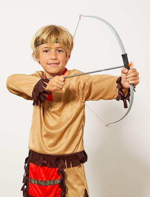 Conjunto indio de arco, flechas y navaja                             gris/marrón Chico