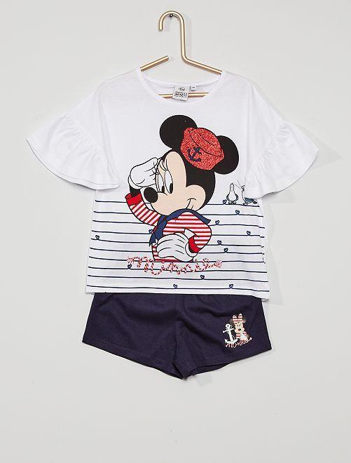 Conjunto 'Minnie Mouse'                                         blanco/azul