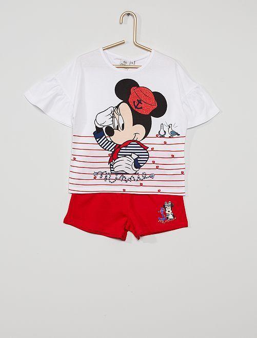Conjunto 'Minnie Mouse'                                         blanco/rojo