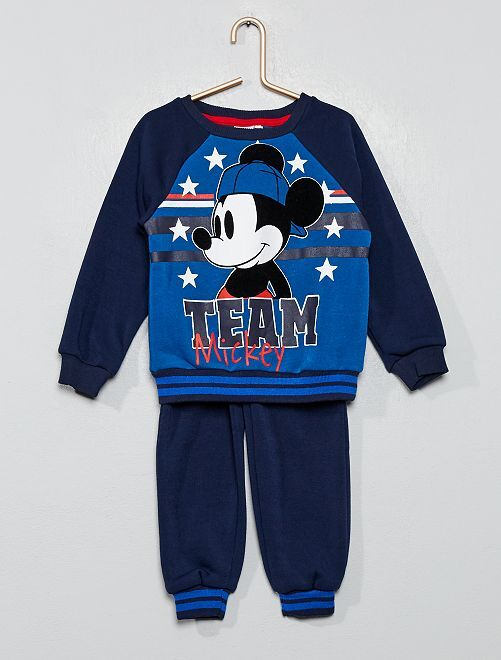 Conjunto sudadera + pantalón 'Mickey'                                         azul