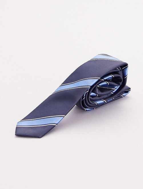 Corbata a rayas                             azul