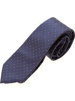 Hombre Corbata azul de lunares