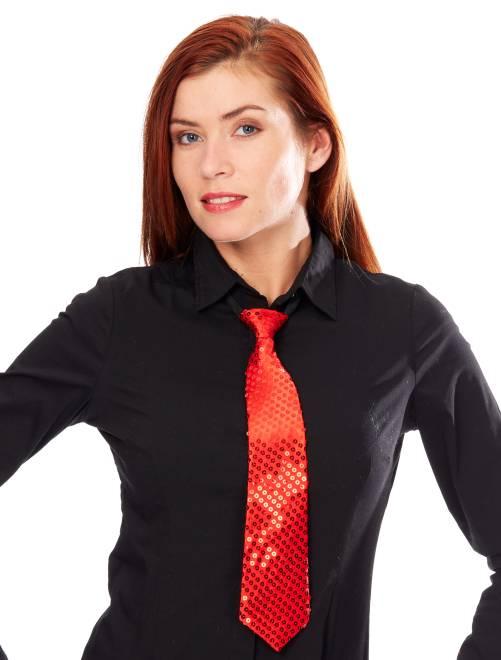 Corbata con lentejuelas                                                     rojo